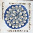"""Ecco alcune mattonelle o """"pietre d'inciampo"""", realizzate dal ceramista calabrese Fabio Butera, che a Cinisi collegano la casa di Peppino a quella che era la casa del boss Badalamenti."""