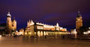 Il centro storico di Cracovia