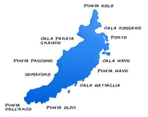 cartina di Ventotene
